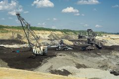 Mine Excavator Coal Mining Machine Stock Image