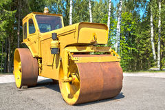 Big machine with its cylinder for smooth Stock Images