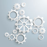 Big Machine White Gears Centre Royalty Free Stock Photography