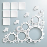 Big Machine White Gears Chart PiAd. White gears with on the grey background. Eps 10  file Royalty Free Stock Image