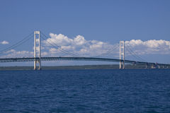Big Mackinac Bridge Stock Photography