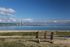 Big Mackinac Bridge Stock Image