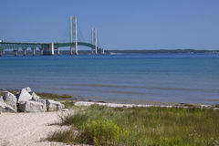 Big Mackinac Bridge Royalty Free Stock Photo