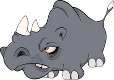 Rhinoceros .Cartoon Royalty Free Stock Images