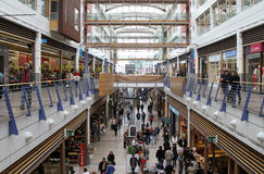 Big mall. Big busy mall with multi levels in Luxembourg Royalty Free Stock Images