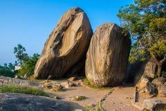 Big Mamallapuram stones Royalty Free Stock Images