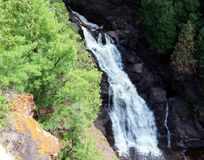 Big Manitou Falls. In Pattison State Park Wisconsin royalty free stock images