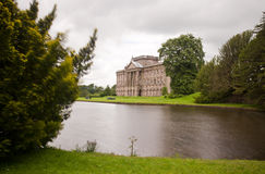 Big mansion. Big stately home / mansion at lyme park in stockport england royalty free stock photos