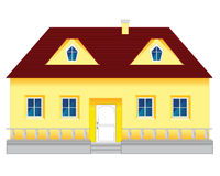 Big mansion. Big beautiful mansion on white background is insulated Stock Image