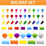 Big Map Set. Vector Royalty Free Stock Images