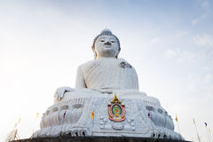 Big marble buddha statue Phuket island, Thailand Royalty Free Stock Photography
