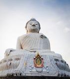 Big marble buddha statue Phuket island, Thailand Stock Images