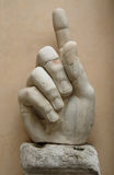 Big marble hand at Roman Museum Stock Image