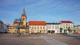 Big market place in Swiecie. Poland.  Royalty Free Stock Images