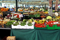 Big market stall Royalty Free Stock Image