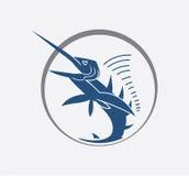 Big marlin fish. Illustrator desain .eps 10 Royalty Free Stock Photo