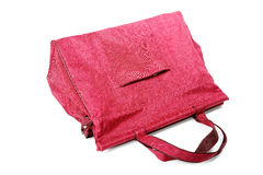 Big maroon ladies handbag  Stock Image