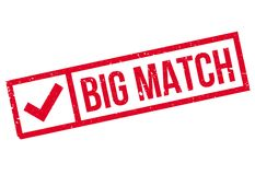Big Match rubber stamp Royalty Free Stock Photos