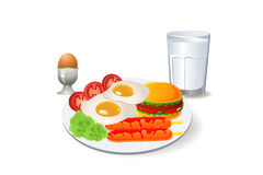 Big meal breakfast Stock Image