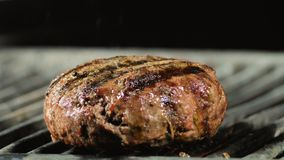 Big meat cutlet with beef grilled burger.  royalty free stock image