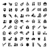 Big medical icons set Stock Images