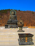 Big Meditate Buddha on Seorak mountain, South Korea Stock Photo