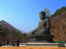 Big Meditate Buddha on Seorak mt Royalty Free Stock Photos