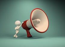 Big megaphone Stock Photo