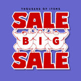 Big Men and Big Sale. Sale Background  Royalty Free Stock Photo