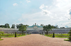 Big Menshikov Palace and garden in Oranienbaum Stock Photo