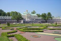 Big Menshikovsky Palace june day. Oranienbaum stock photo