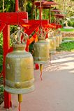 Big metal bells in Thai temple Royalty Free Stock Images