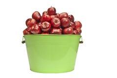Big Metal Bucket Of Apples Royalty Free Stock Image