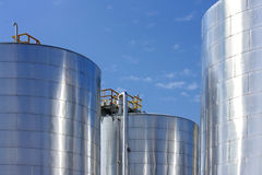 Big metal gasoline tanks Stock Photos