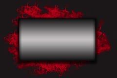 Big metal horizontal rectangle on a black background Stock Photography
