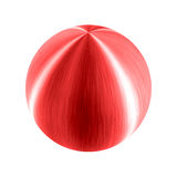 Big metallic red ball brushed sphere Royalty Free Stock Photography