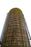 Big metallic silo for storage Royalty Free Stock Images