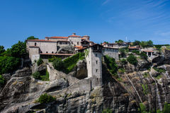 Big Meteora Monastery Greece Royalty Free Stock Photos