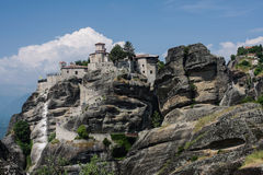 Big Meteora Monastery Meteora Greece Royalty Free Stock Images