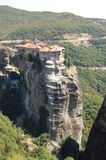 The Big Meteora in the summer vertical picture Royalty Free Stock Photos