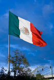 Big Mexican Flag 1. One of the big mexican flags found around the country stock photography