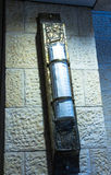 Big Mezuzah  at  the stone wall in Ben Gurion Airport. Tel Aviv. Israel Royalty Free Stock Photos