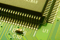 The big microcircuit royalty free stock photography
