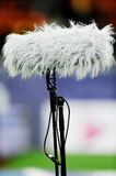 Big microphone on sport arena Stock Photos