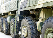 The big Military tractor wheels Royalty Free Stock Photography