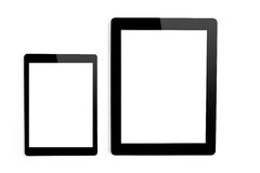 Big and mini tablet on isolated background Royalty Free Stock Photos