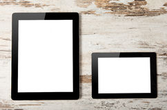 Big and mini tablet with  screen Stock Image