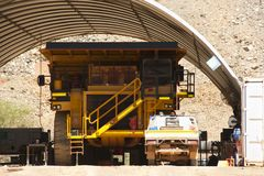 Mining Dump Truck Maintenance royalty free stock photography