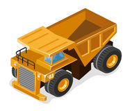 Big Mining Truck. Big Truck. Build Your Own World with Isometric Works vector illustration