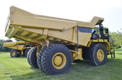 Big mining truck. A picture of a big yellow mining truck at worksite Stock Photo